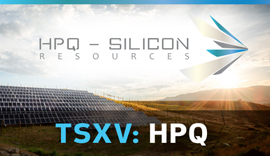 HPQ Silicon Resources: Consortium to develop silicon-based anode materials for lithium-ion batteries