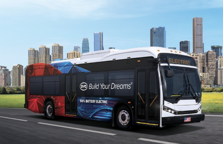 American-made & all-new, BYD K8M innovative 35-foot electric bus aces FTA bus reliability test