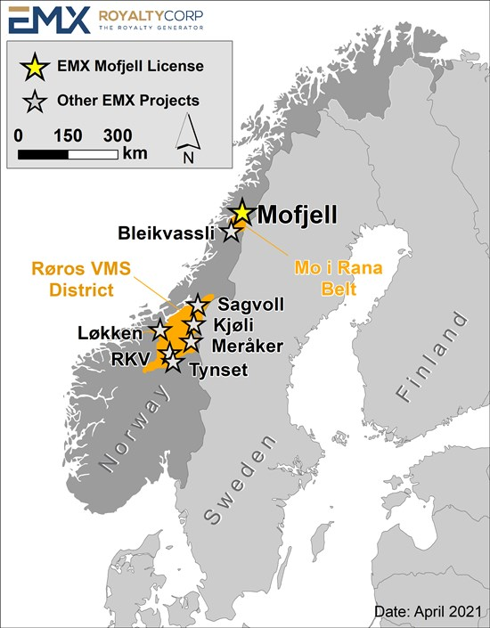 EMX acquires Mo-i-Rana polymetallic VMS district in Norway