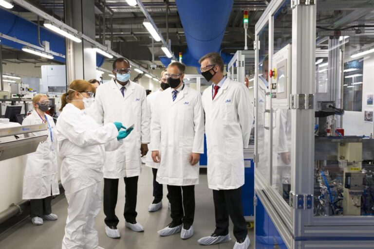 JM announces new net zero targets as it opens new state-of-the-art Battery Technology Centre in Oxford, UK