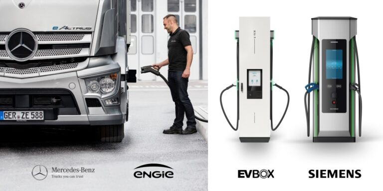 Mercedes-Benz Trucks establishes a strategic charging infrastructure partnership with Siemens, ENGIE and EVBox Group